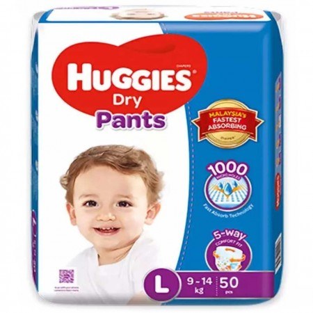 Huggies Dry Baby Belt Diaper L 9-14 kg